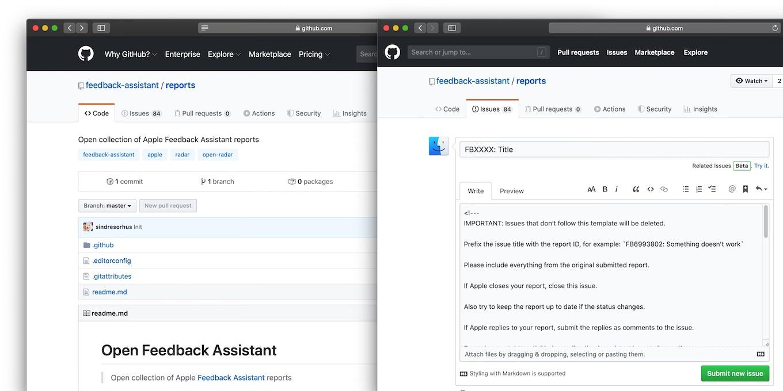 Open Feedback Assistant