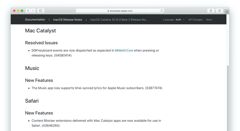 Mac Catalystが強化されるmacOS 10.15.4 Catalina