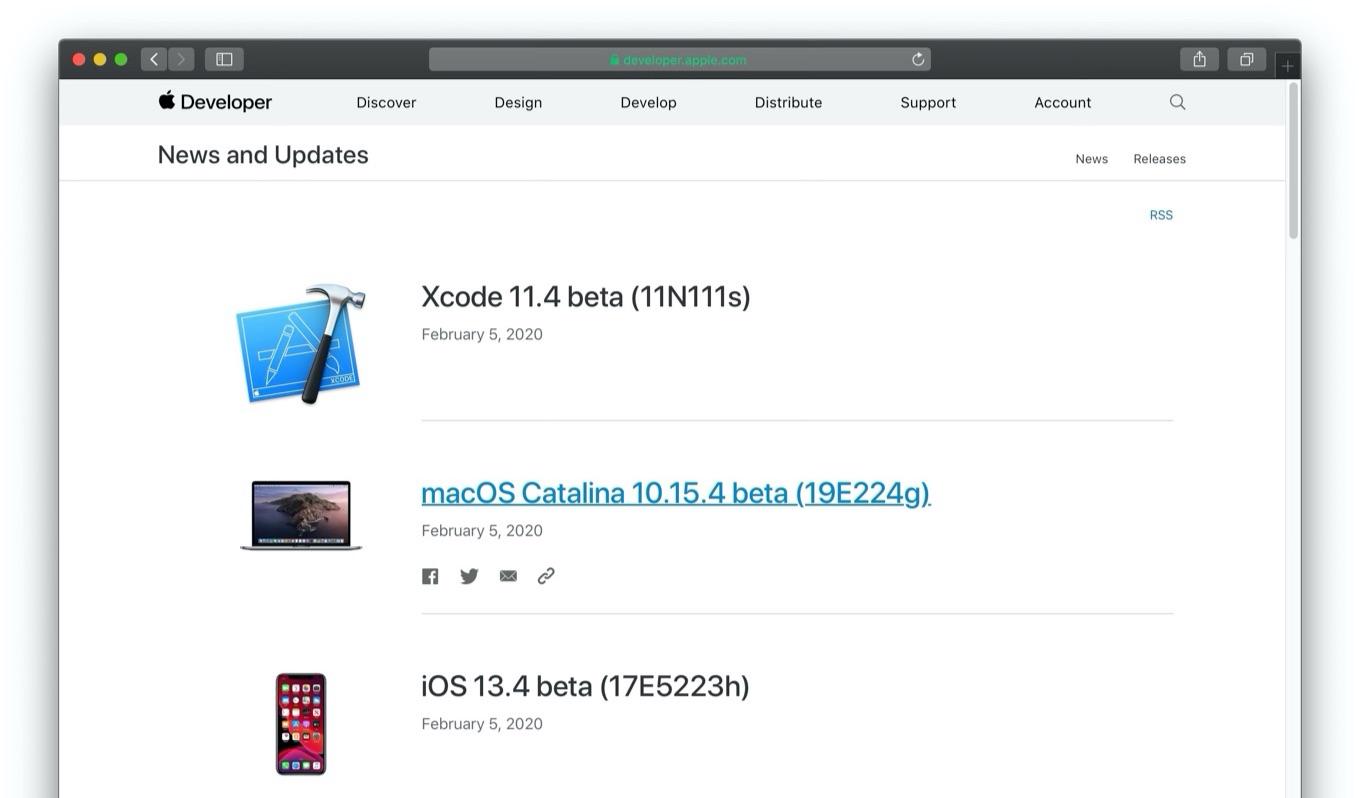 macOS Catalina 10.15.4 beta 1
