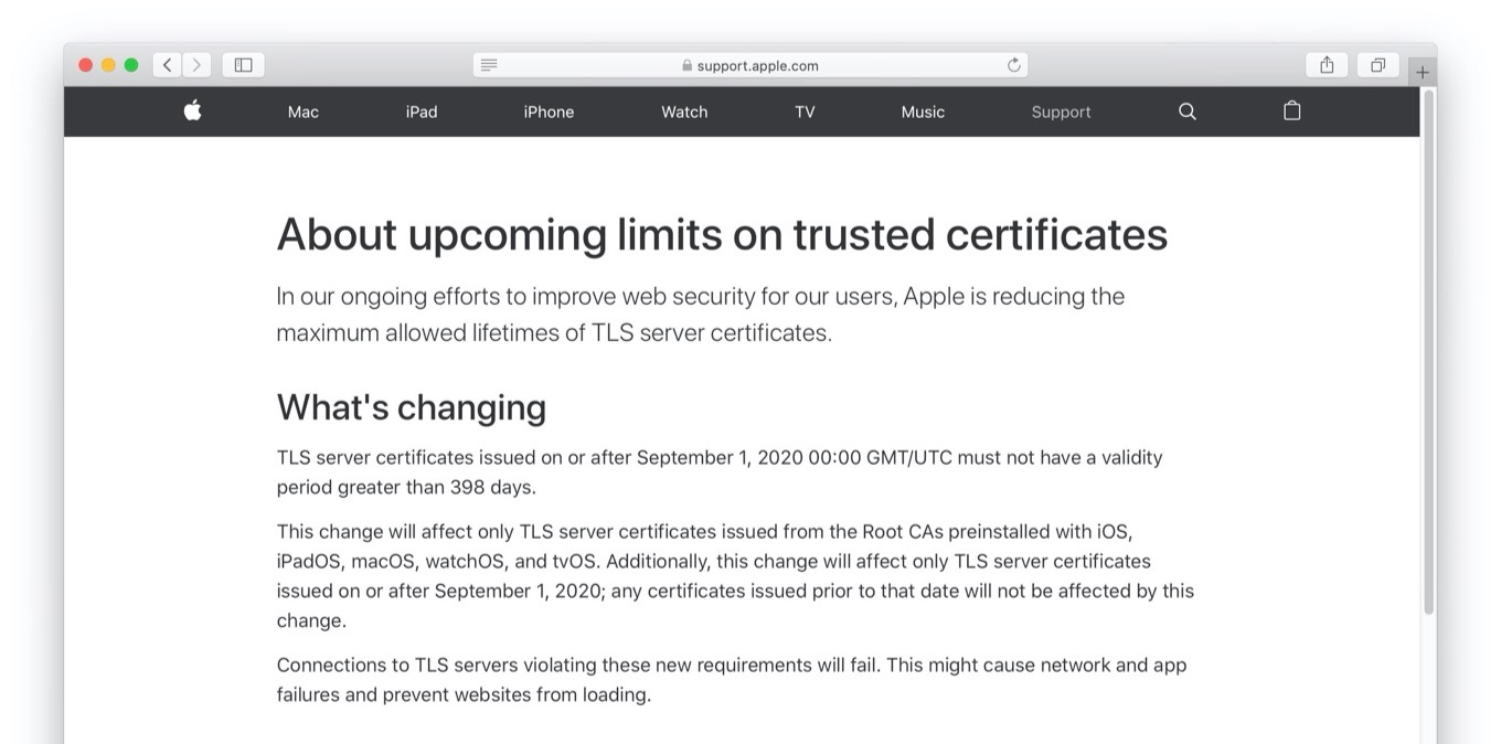 About upcoming limits on trusted certificates