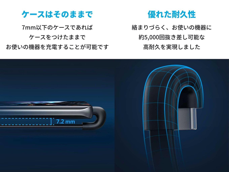 Anker PowerLine Play 180 USB-C & USB-A ケーブル