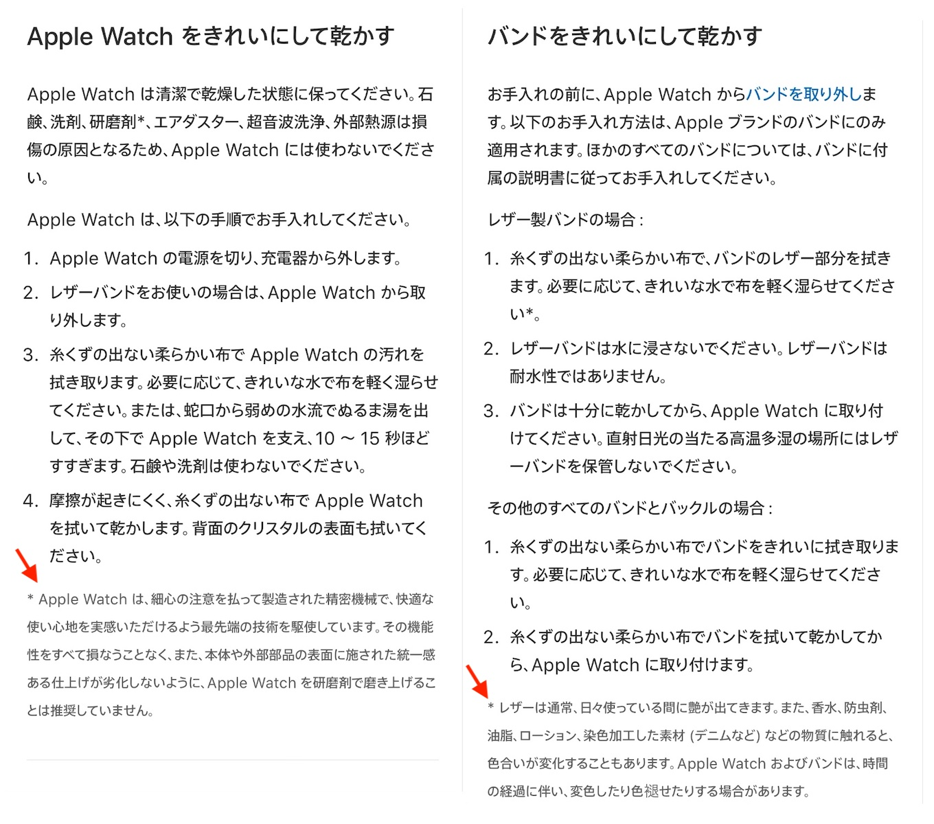 Apple Watchの掃除
