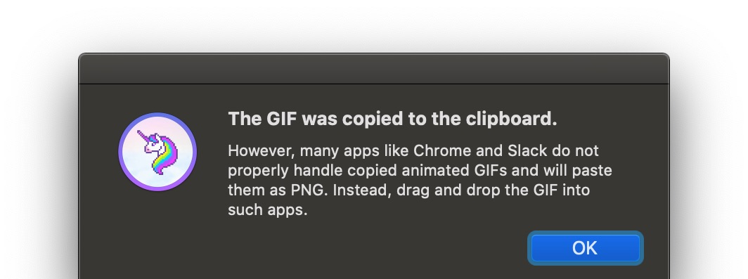 The GIF was copied to the clipboard.