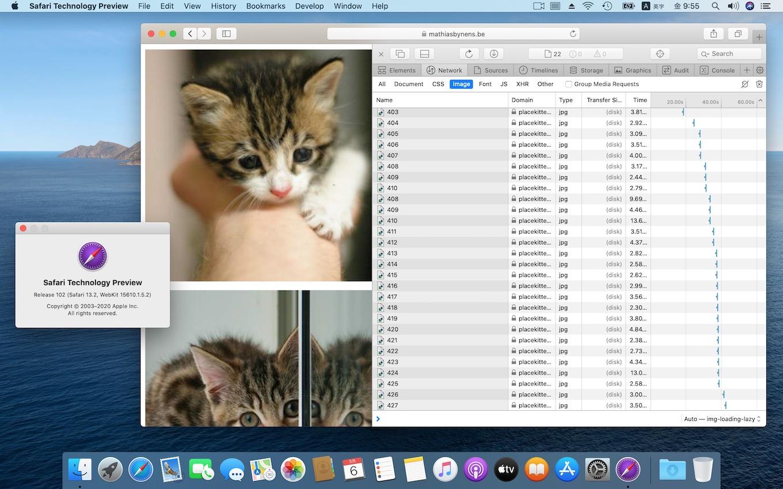 SafariのLazy Image Loading