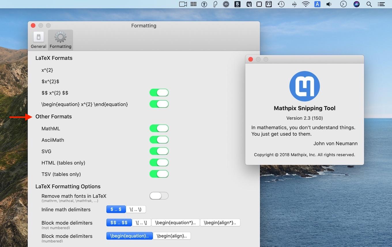 Mathpix Snip for Mac v2.3
