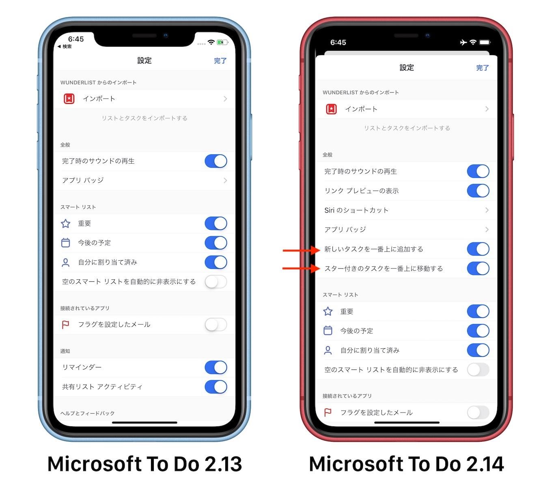 Microsoft ToDoのタスクソート