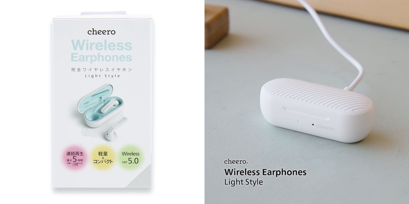 cheero Wireless Earphones Light Style - cheero
