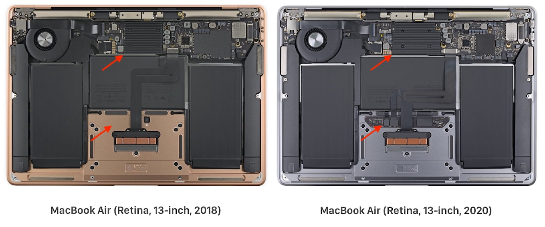 MacBook Air (Retina, 13-inch, 2020)の分解