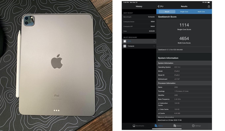 iPad Pro (2020)ベンチマークスコア