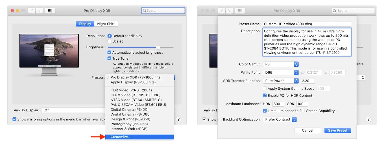 Apple Pro Display XDRのリファレンスモードカスタマイズ