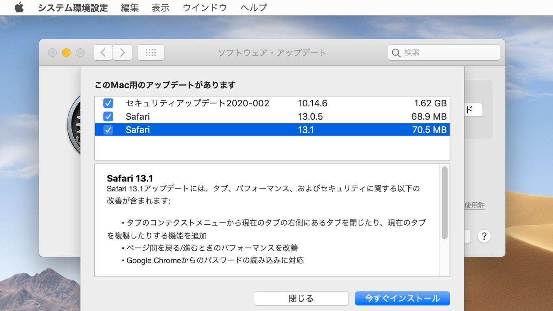 Safari v13.1