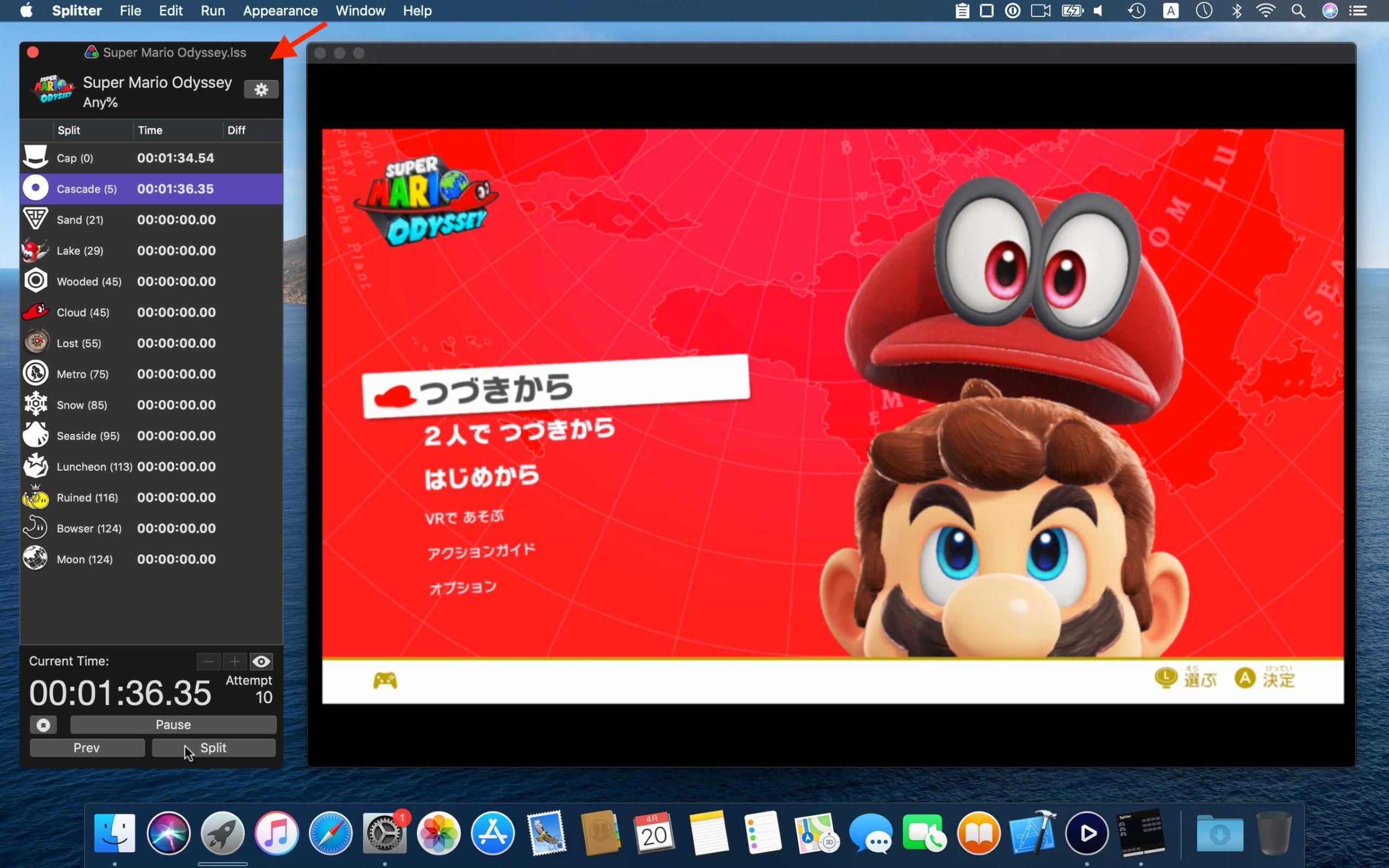 Splitter SpeedRunning Timer for macOS