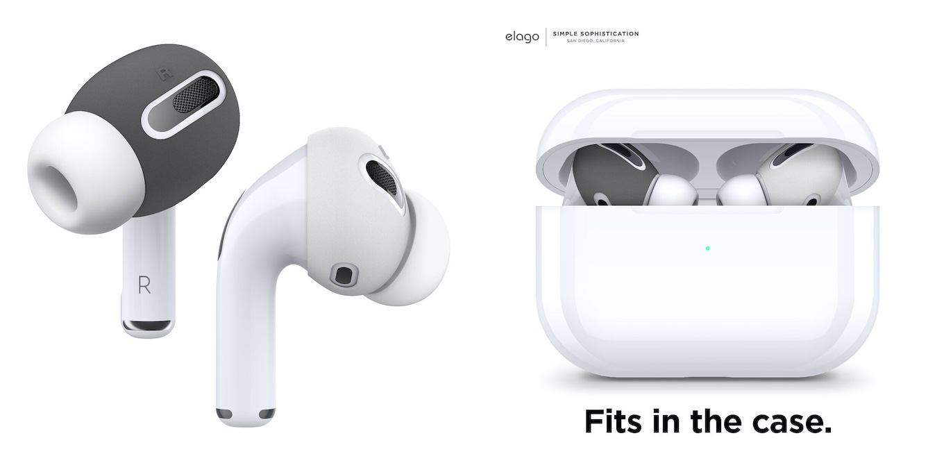 elago [Fit in The Case] Ear Tips Cover Designed for Apple AirPods Pro