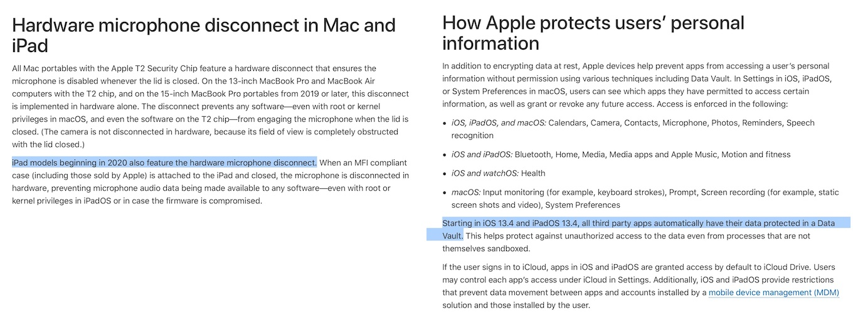 iOS 13.4とiPadOS 13.4の新しいセキュリティ