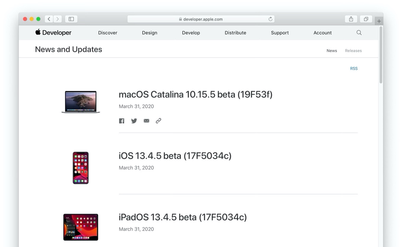 macOS Catalina 10.15.5 beta Build 19F53f now available