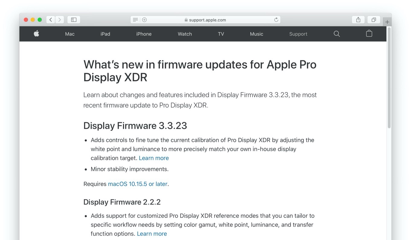 About Display Firmware 3.3.23