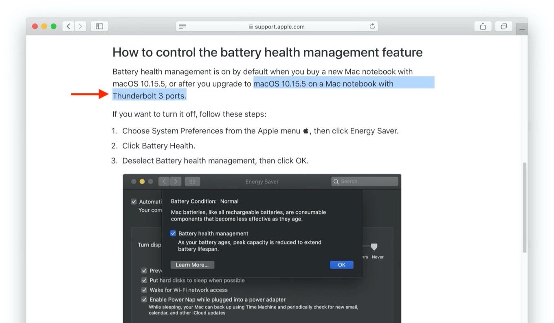 MacBookのBattery health managementについて