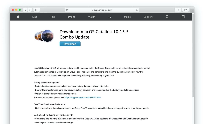 macOS 10.15.5 Combo Update