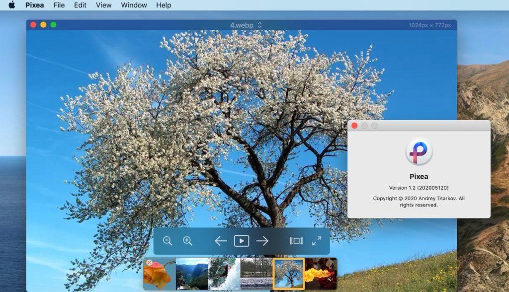 WebPをサポートしたPixea for macOS