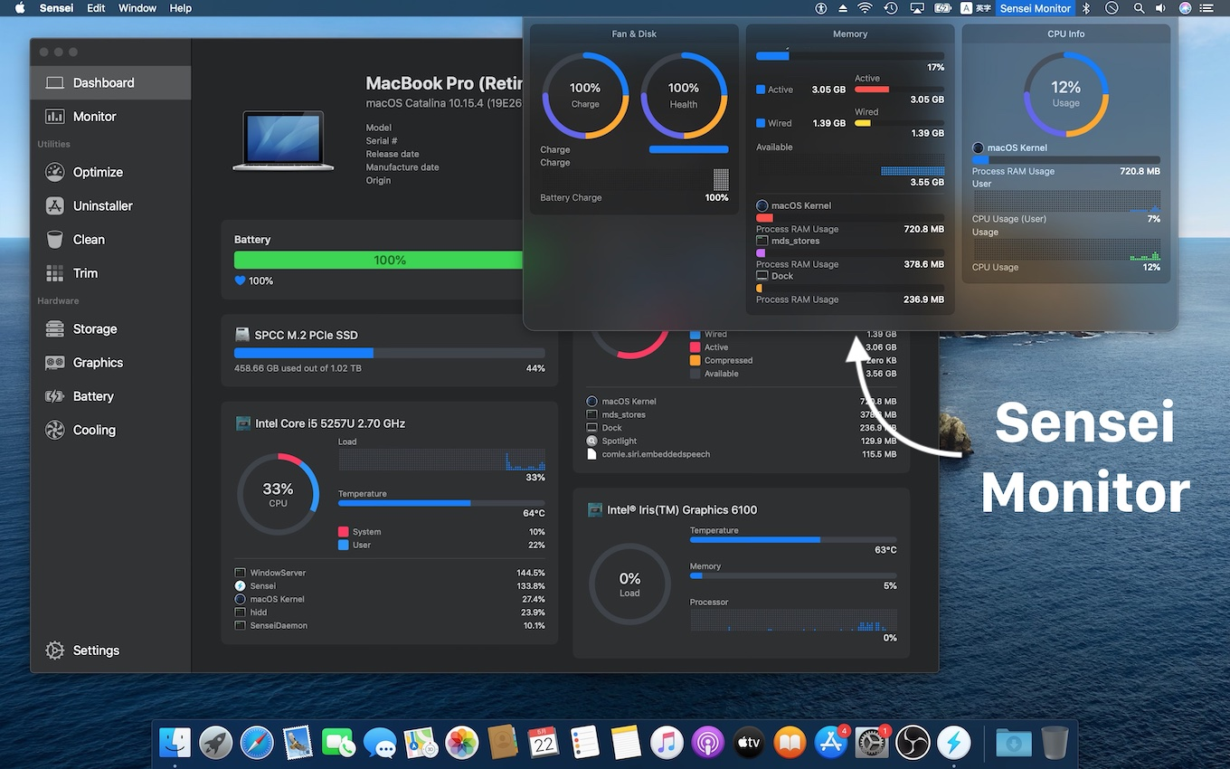 Sensei for Mac with Sensei Monitor