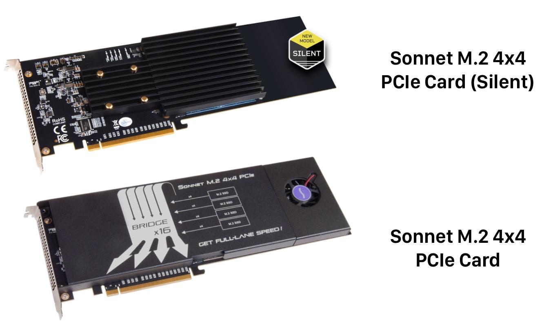 PCIe接続用M.2 NVMe SSD増設キット「Sonnet M.2 4×4」シリーズ