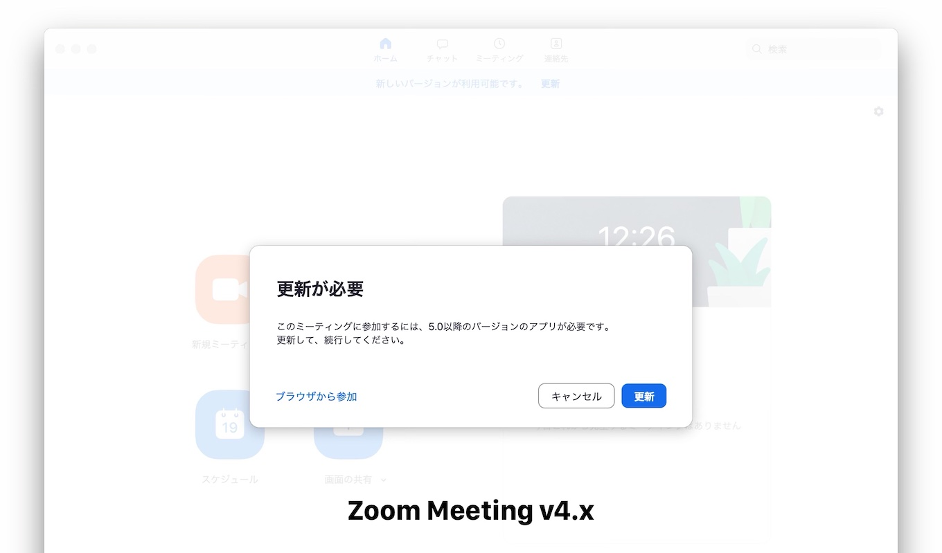 Zoom Meeting for v4