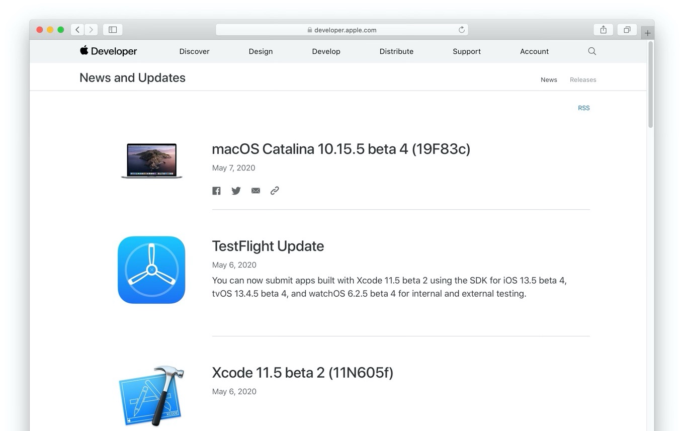 macOS Catalina 10.15.5 beta 4 (19F83c)