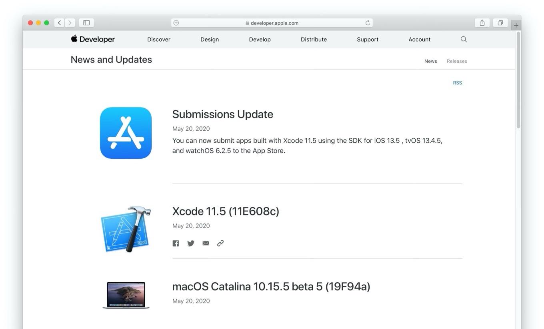 macOS Catalina 10.15.5 beta 5 (19F94a)