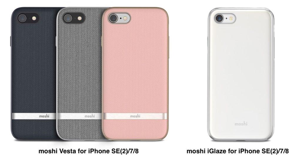 moshi Vesta and iGlaze for iPhone SE2