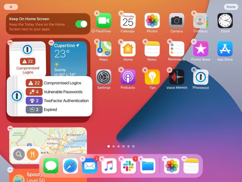 iPadOS 14のWatchtowerウィジェット