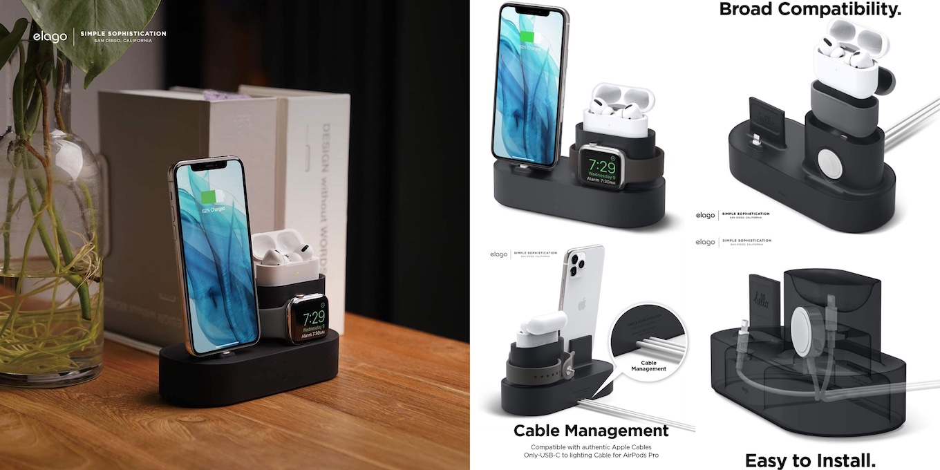 3 in 1 Charging Station Compatible with AirPods Pro