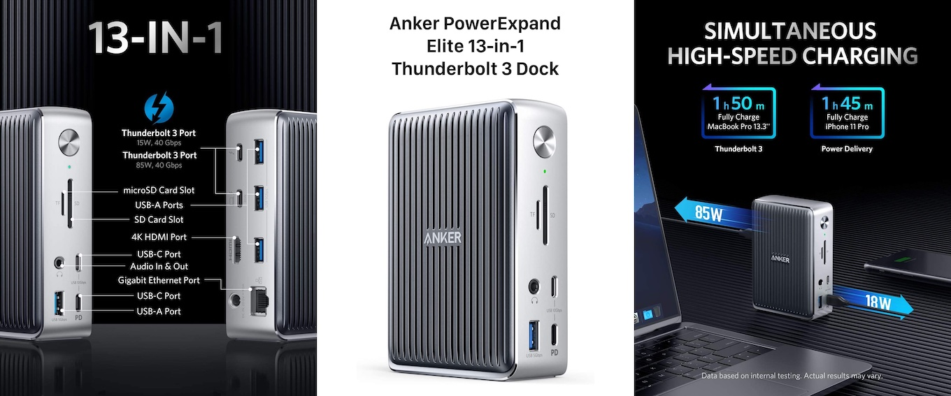 Anker Elite 13-in-1 Thunderbolt 3 Dockの特徴