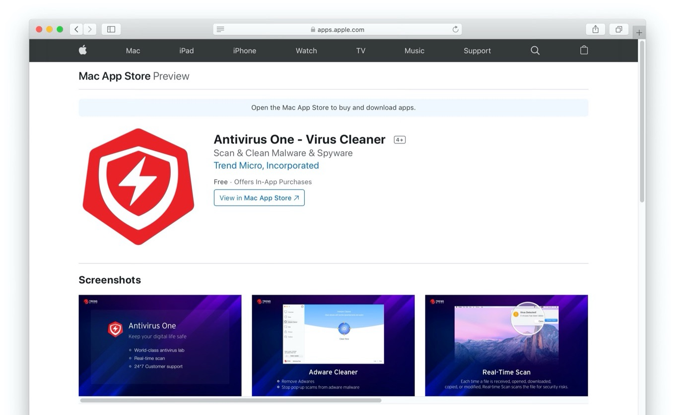 Antivirus One by Trend Micro Mac