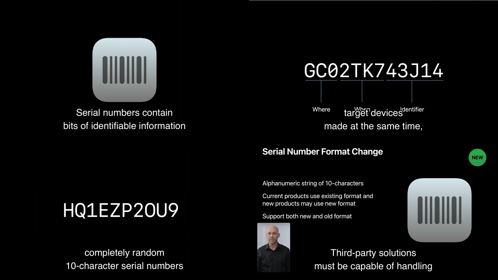 Appleの新しいシリアルナンバー