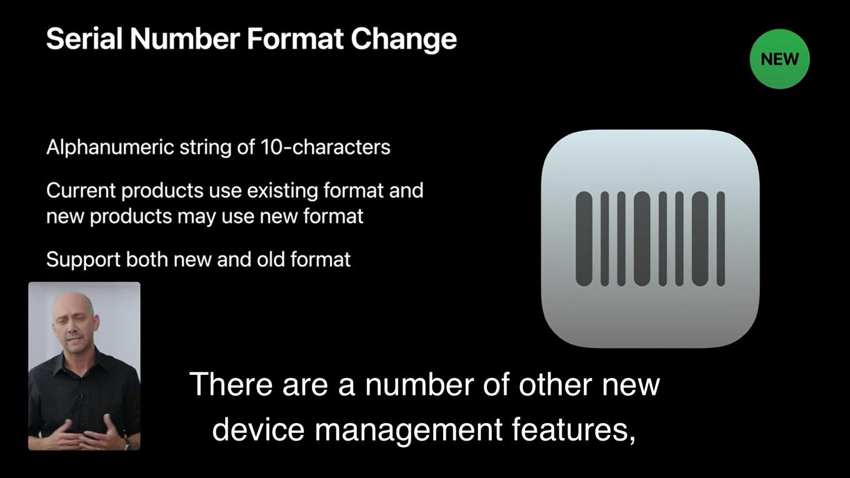 Appleがシリアルナンバーを変更