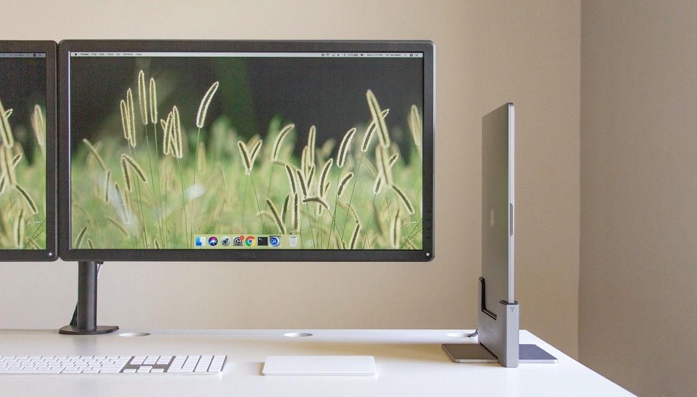 Brydge MacBook Pro Vertical Dock on Desktop