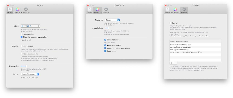 Maccy for Mac v0.10