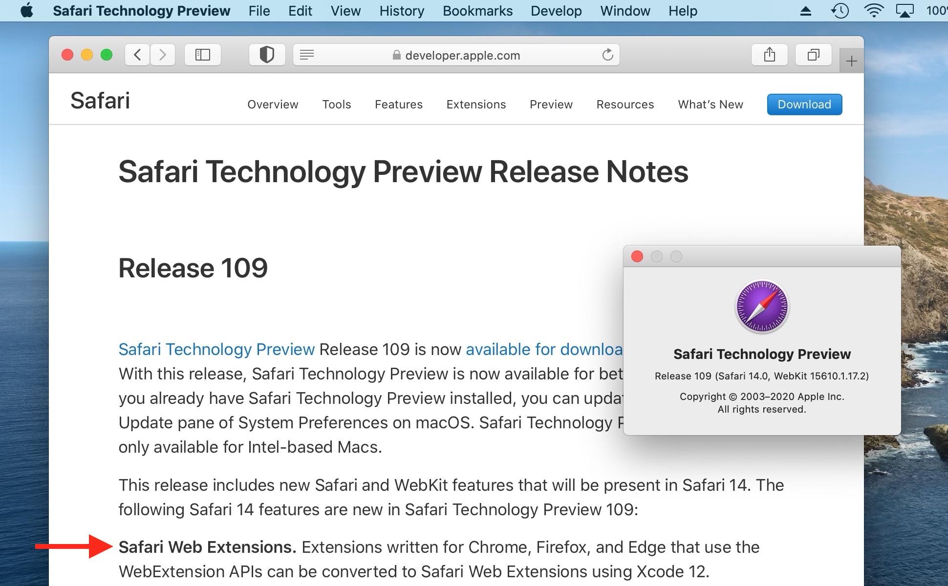Safari Technology Preview 109