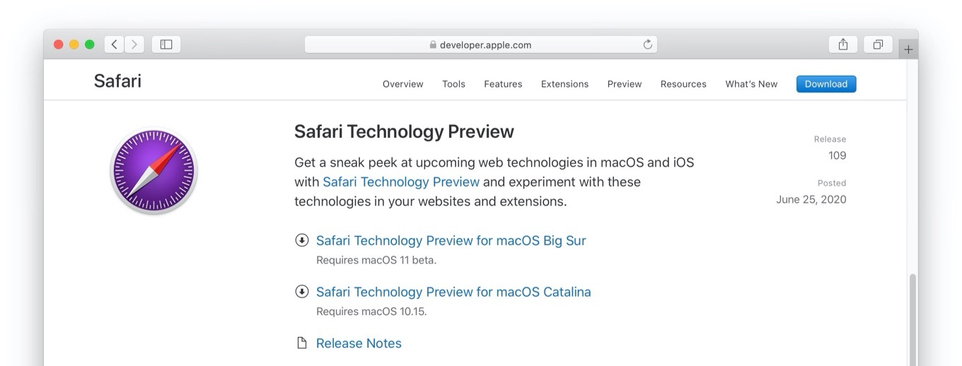 Safari Technology Preview v109