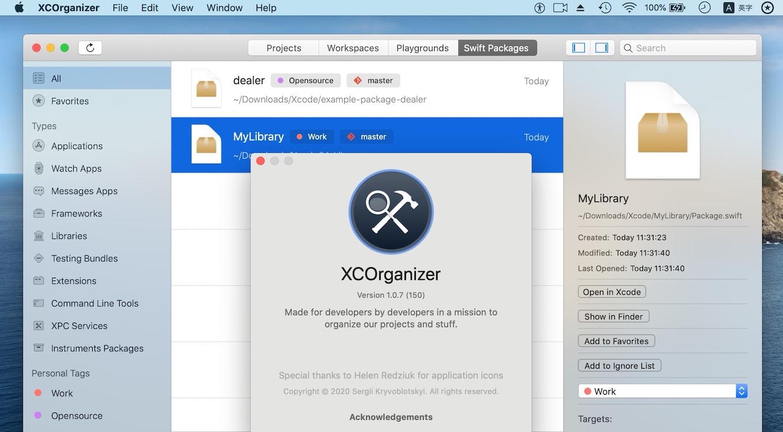 XCOrganizer v1.0.7