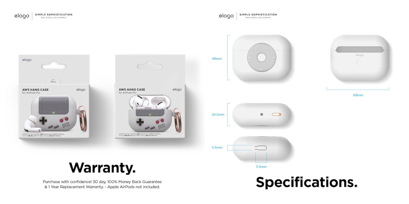 elago AW5とAW6 for AirPods Pro