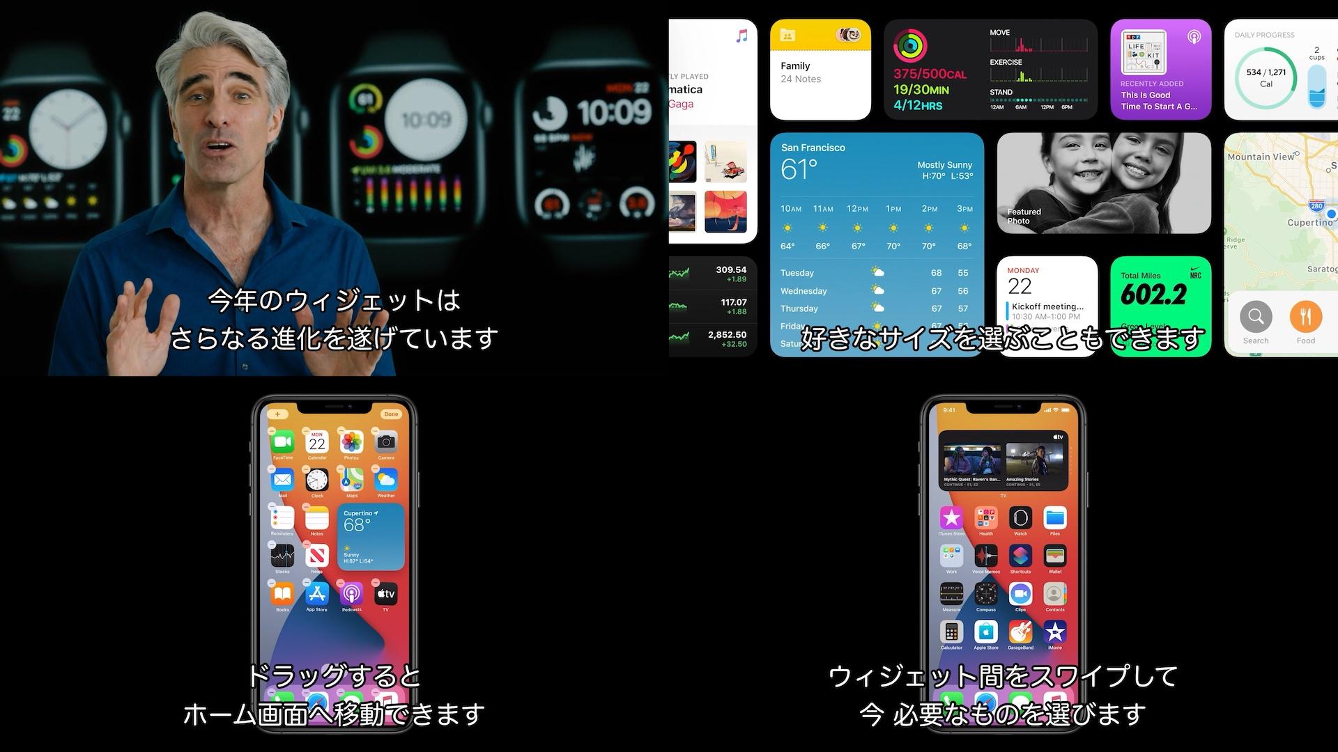 iOS 14のウィジェット