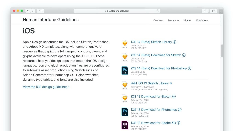 iOS 14とmacOS Big Surのデザインテンプレート