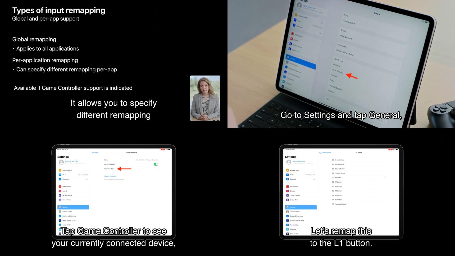 iPadOS14のグローバルリマッピング