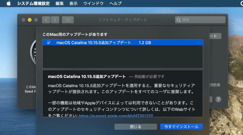 macOS 10.15.5 Supplemental Update Build 19F101
