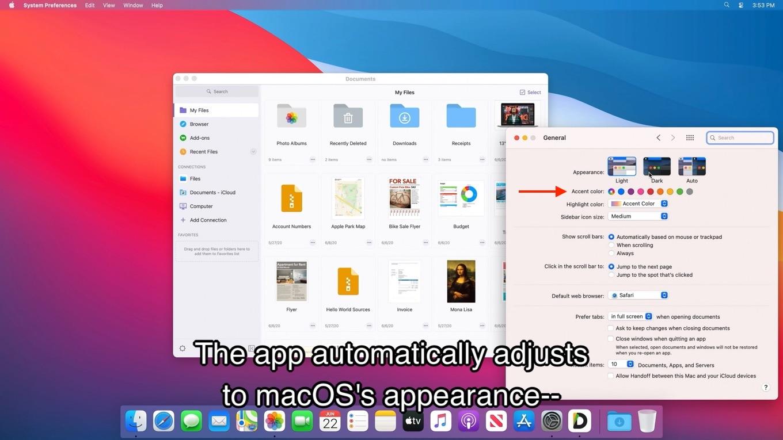 macOS Big Surのアクセントカラー