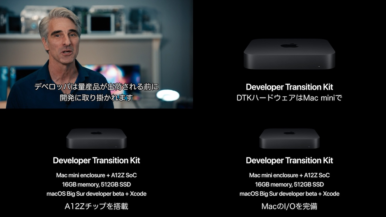 Apple Silicon製MacのDTK