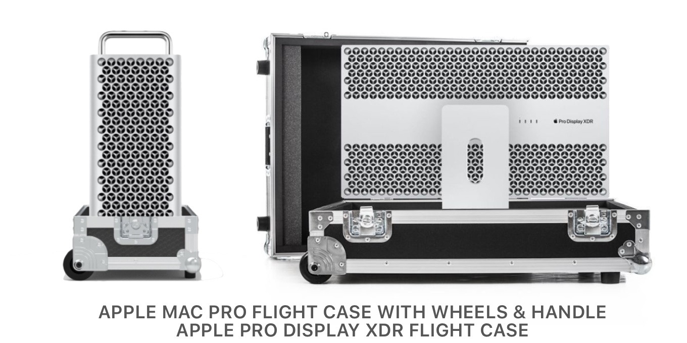 NSP Cases Mac Pro 2019 flight case with wheels and handle
