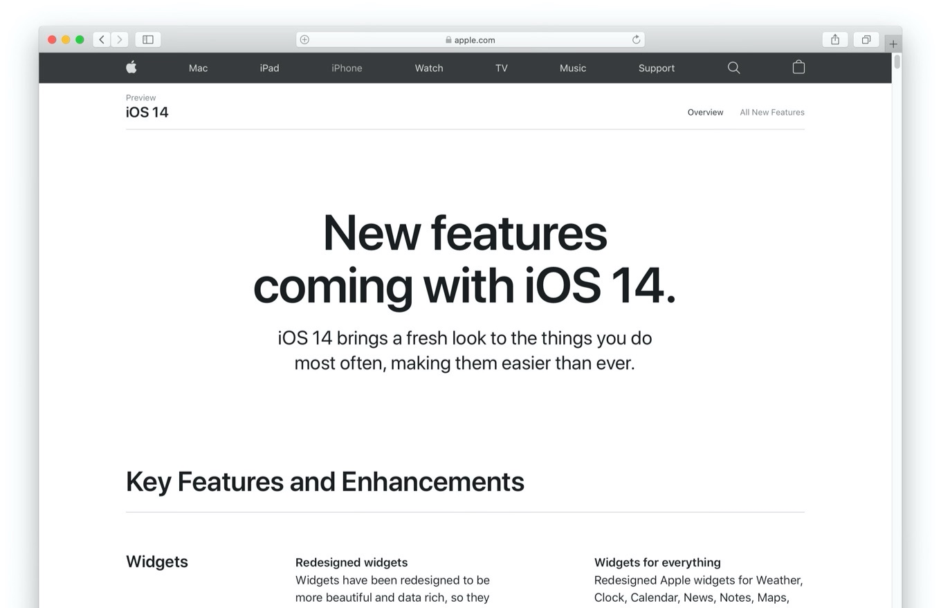 New features coming with iOS 14