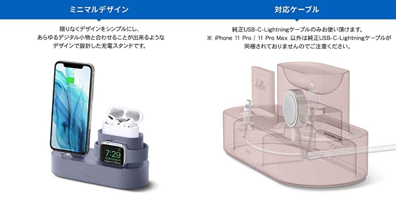 AirPods Pro/Apple Watch/iPhone 充電スタンド 3in1